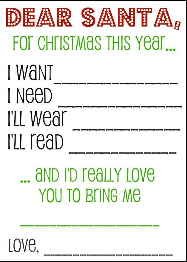 Printable Christmas Wish List For Kids.48 Christmas Wish Lists Kittybabylove Com