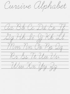 Learning Cursive Writing Worksheets Download