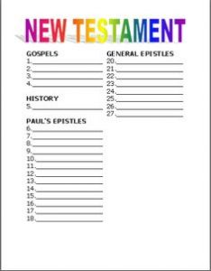 Learning the Bible Worksheets