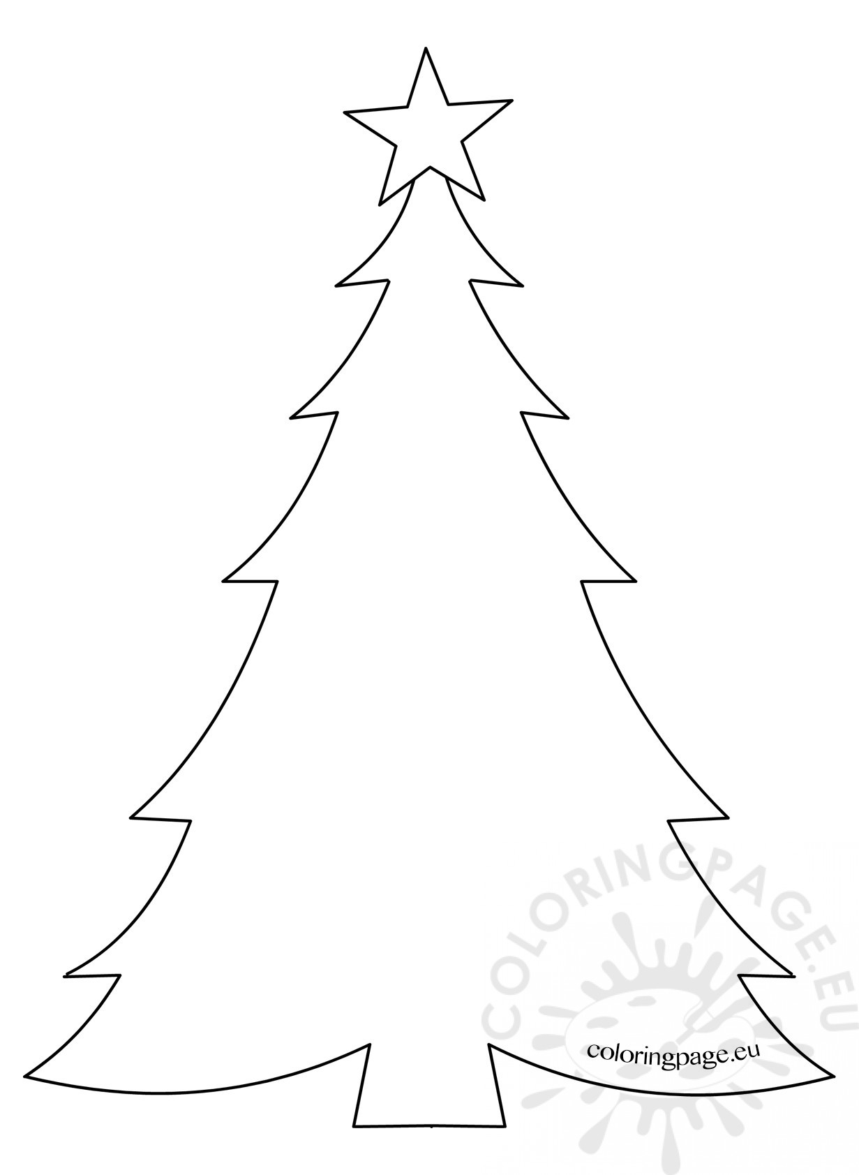 This is a graphic of Modest Printable Christmas Tree Template