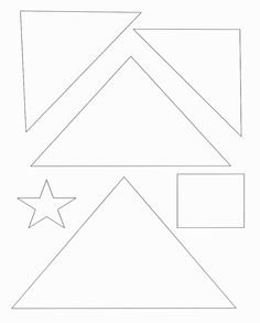 Triangle Christmas Tree Template