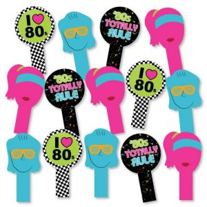 80's Photo Booth Props Printable Free