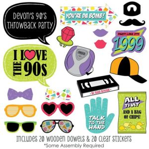 90's Photo Booth Props Printable