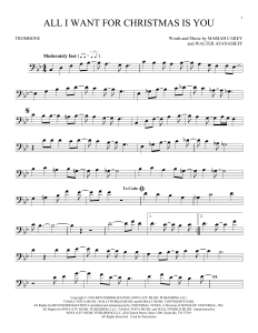 All I Want For Christmas Piano Sheet Music