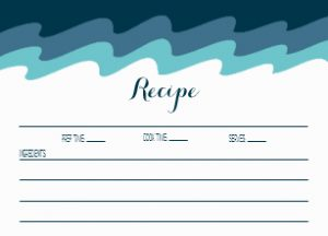 Beach Themed Recipe Cards