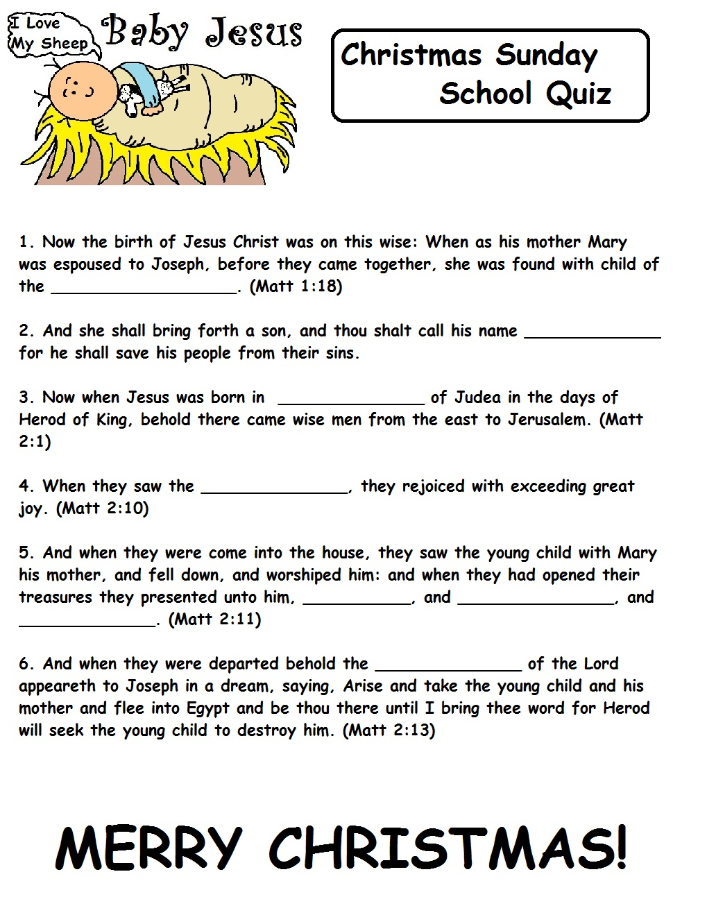 32 Fun Bible Trivia Questions   KittyBabyLove.com