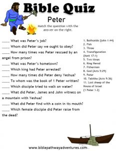 Bible Trivia Questions for Kids with Answers