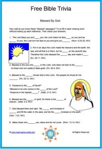 Bible Trivia Questions with Scripture Reference