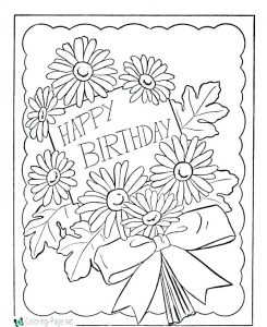 Birthday Cards for Kids to Color