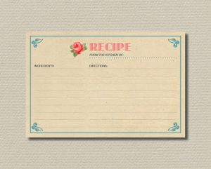 Bridal Recipe Cards