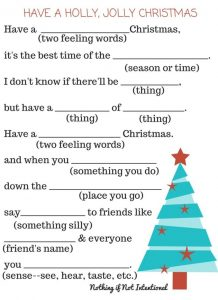 Christmas Carol Mad Libs