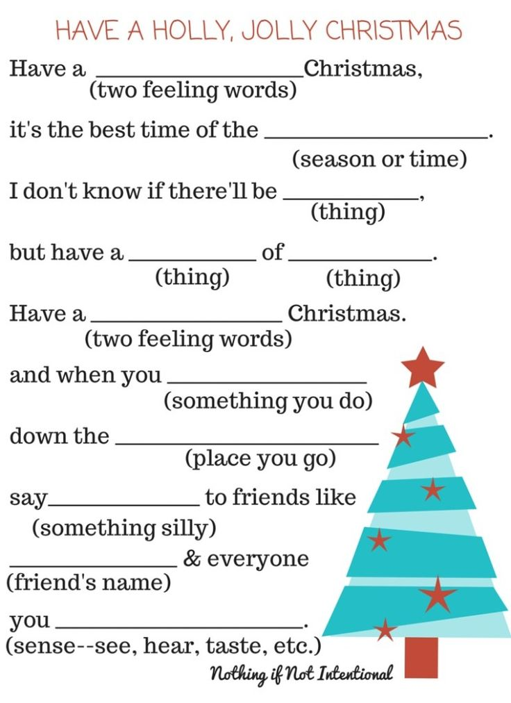 graphic relating to Words to 12 Days of Christmas Printable known as 32 Attention-grabbing Xmas Ridiculous Libs