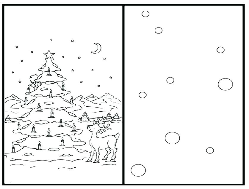 It is a graphic of Modest Printable Christmas Cards to Color