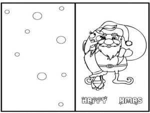 Christmas Greeting Cards Coloring Pages