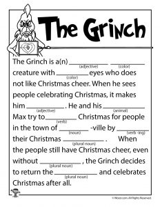 Christmas Mad Libs for Adults