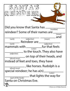 Christmas Mad Libs for Adults Printable