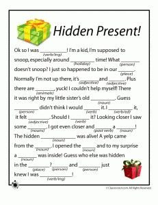 Christmas Mad Libs for Work Hidden Present