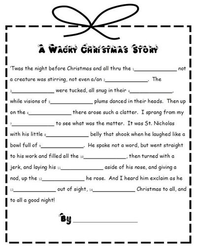 image relating to Christmas Mad Libs Printable Free titled 32 Fascinating Xmas Nuts Libs