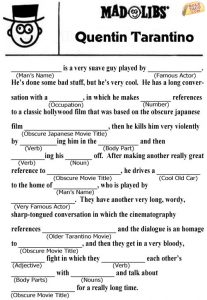 Christmas Movie Mad Libs