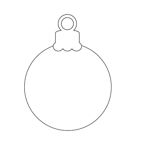 image relating to Printable Ornaments Template known as 30 Cheerful Printable Xmas Ornaments