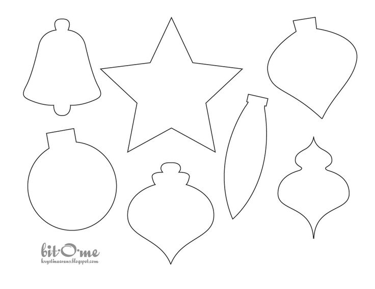 photo about Printable Ornaments named 30 Cheerful Printable Xmas Ornaments