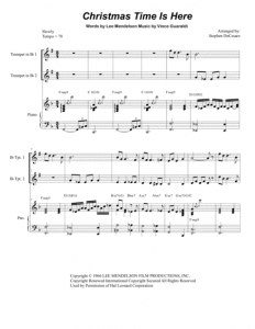 Christmas Time Is Here Piano Sheet Music