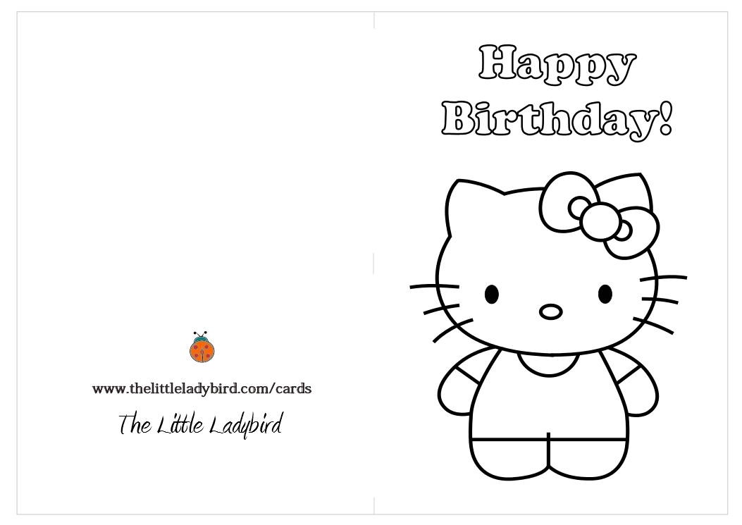Color In Birthday Cards