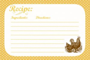 Country Recipe Cards
