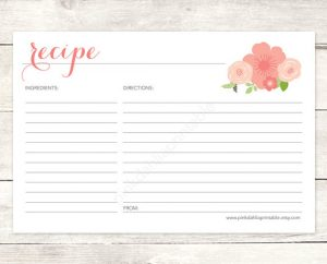 DIY Recipe Cards for Bridal Shower