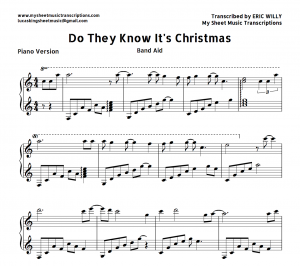 Do They Know it's Christmas Piano Sheet Music
