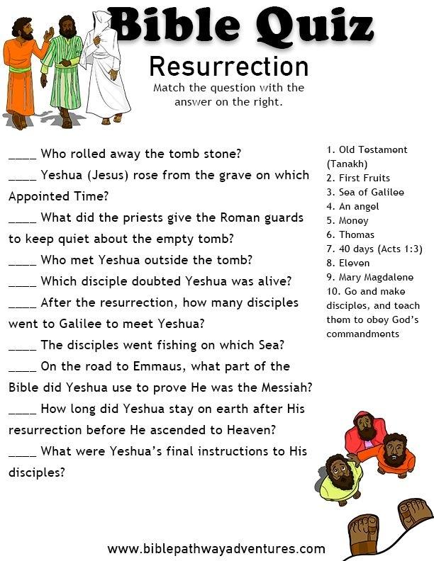photo relating to Easter Trivia Printable titled 32 Entertaining Bible Trivia Queries
