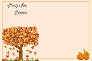Fall Recipe Cards Templates