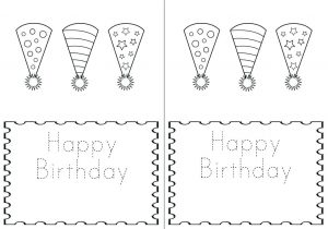 Free Birthday Cards to Print and Color
