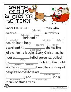 Free Christmas Mad Libs