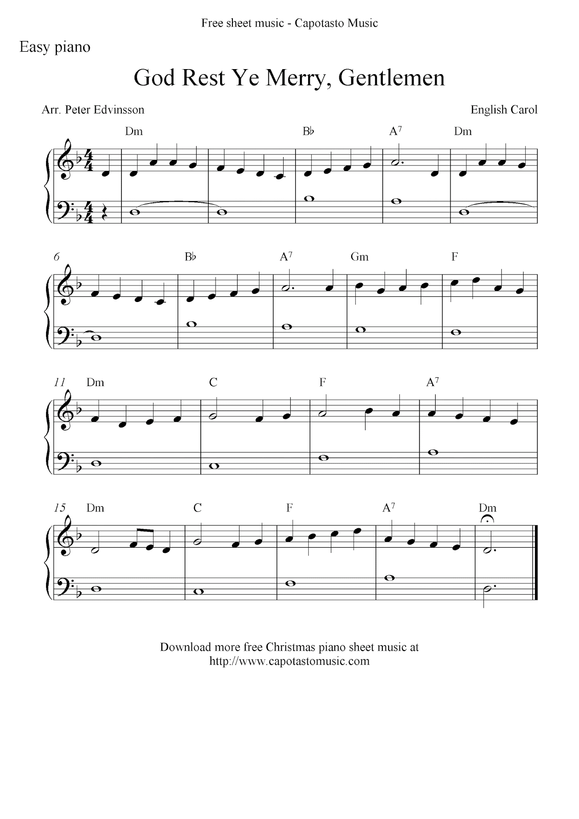 This is an image of Persnickety Free Printable Sheet Music