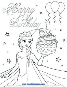 Free Coloring Birthday Cards