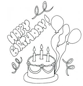 Free Coloring Birthday Cards to Print