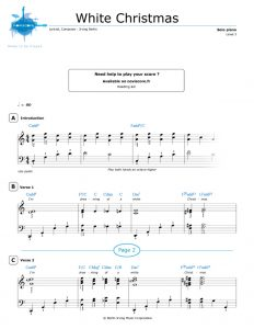 Free Piano Sheet Music White Christmas
