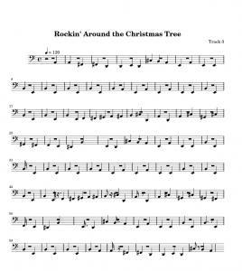 Free Piano Sheet Music for Rockin Around the Christmas Tree