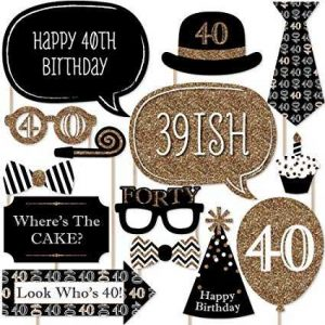 Free Printable 40th Birthday Photo Booth Props