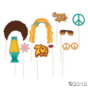 Free Printable 70's Photo Booth Props