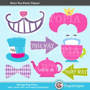 Free Printable Alice in Wonderland Photo Booth Props