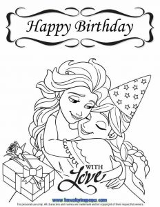 Free Printable Birthday Cards for Kids to Color