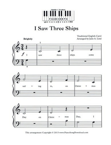 graphic about Free Printable Christmas Sheet Music for Piano called 70 Melodious Xmas Piano Sheet New music