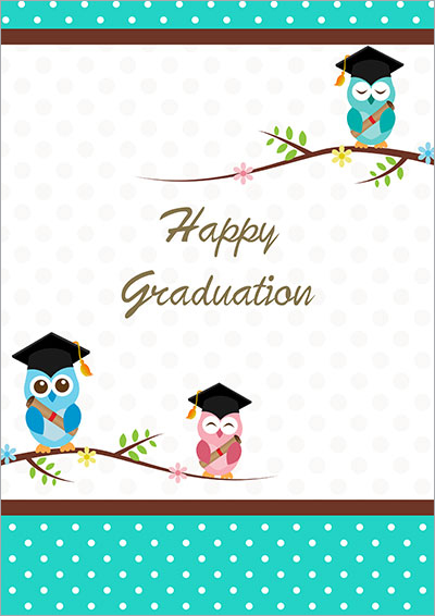 Universal image for printable grad card