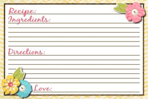 Free Printable Recipe Cards Templates