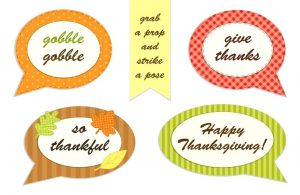 Free Printable Thanksgiving Photo Booth Props