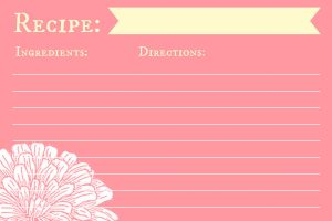 Free Recipe Card Printables