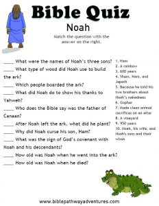 Good Bible Trivia Questions