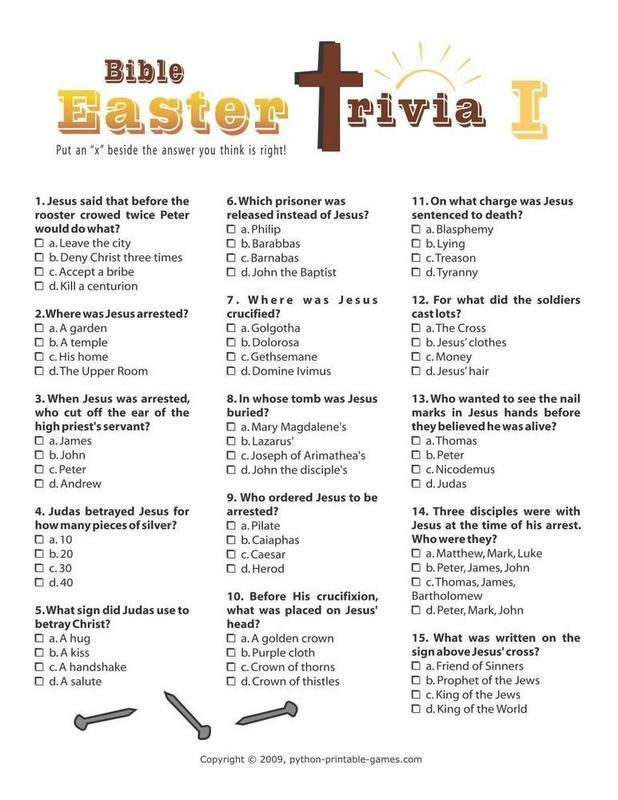 32 Fun Bible Trivia Questions   KittyBabyLove com